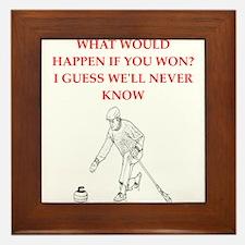 Unique Curling club Framed Tile