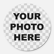Your Photo Here Round Car Magnet