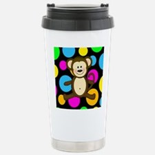 Happy Monkey on Multicolor Travel Mug