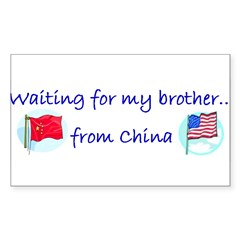 Waiting for my brother...from Sticker (Rectangular