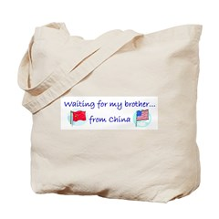Waiting for my brother...from Tote Bag