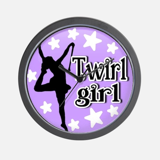 Twirl Girl Wall Clock