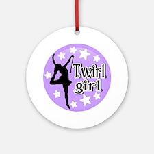 Twirl Girl Round Ornament