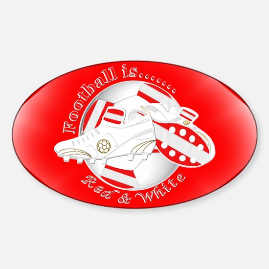 Red and White Football Soccer Decal