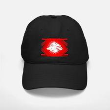 Red and White Football Soccer Baseball Hat
