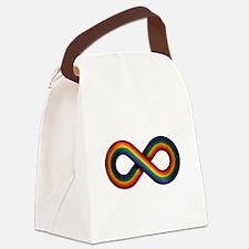 Rainbow Infinity Canvas Lunch Bag