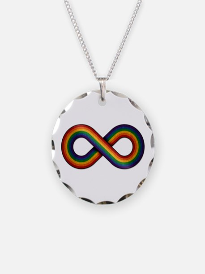 Rainbow Infinity Necklace