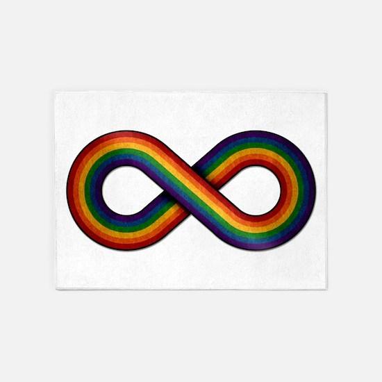 Rainbow Infinity 5'x7'Area Rug