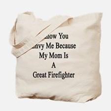 Cute Mother of firefighter Tote Bag