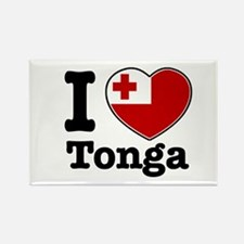 I love Tonga Rectangle Magnet