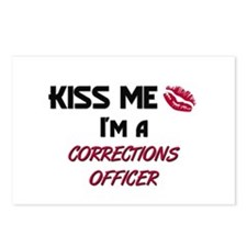 Kiss Me I'm a CORRECTIONS OFFICER Postcards (Packa