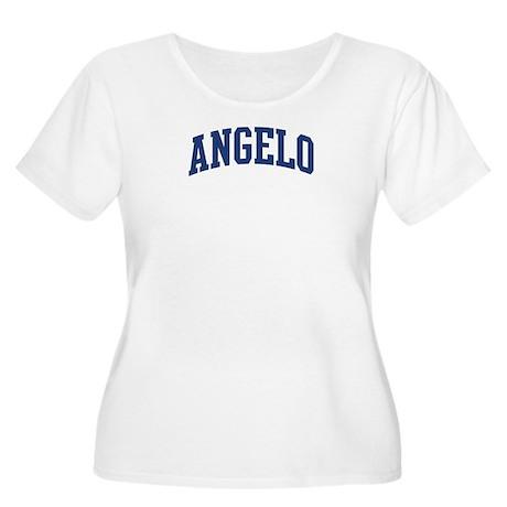 ANGELO design (blue) Women's Plus Size Scoop Neck