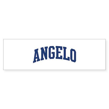 ANGELO design (blue) Bumper Sticker