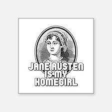 """Jane Austen Square Sticker 3"""" x 3"""""""