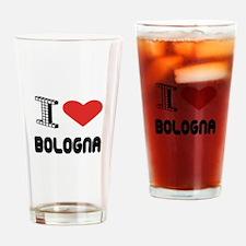 I Love Bologna City Drinking Glass