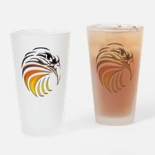 Tribal Eagle (color) Drinking Glass