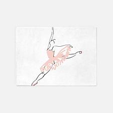 Pretty Pink Ballerina 5'x7'Area Rug