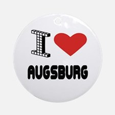 I Love Augsburg City Round Ornament