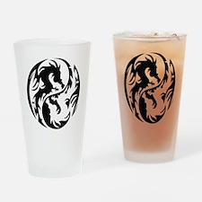 Tribal Dragons Drinking Glass