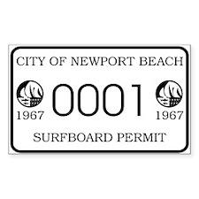 Newport Surfboard Permit 67' Rectangle Decal