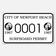 Newport Surfboard Permit 67' Rectangle Decal