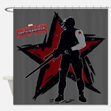 The Winter Soldier Silhouette - Cap Shower Curtain