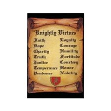 Knightly Virtues Rectangle Magnet