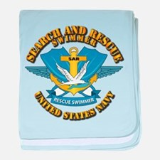 Search and Rescue Swimmer baby blanket