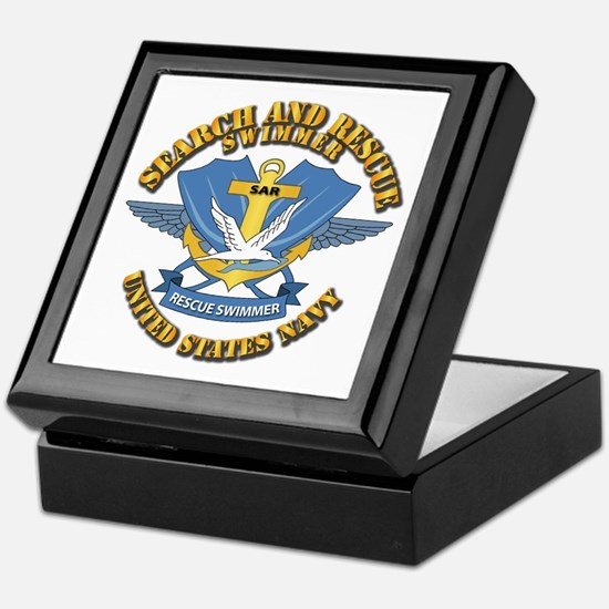 Search and Rescue Swimmer Keepsake Box