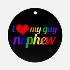 Gay Nephew Round Ornament