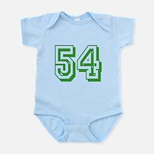 54 Green Birthday Infant Bodysuit