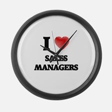 I love Sales Managers Large Wall Clock