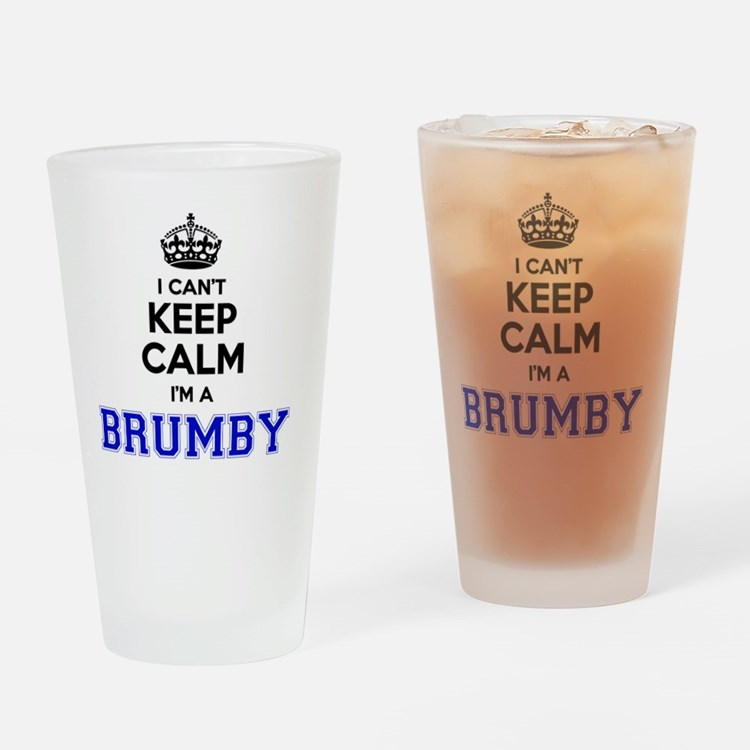BRUMBY I cant keeep calm Drinking Glass