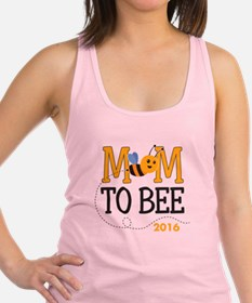 Mom to Bee Personalized Racerback Tank Top