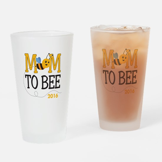 Mom to Bee Personalized Drinking Glass