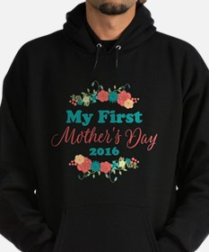 First Mother's Day Personalized Hoodie (dark)
