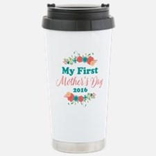 First Mother's Day Pers Stainless Steel Travel Mug
