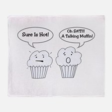 Talking Muffin Joke Throw Blanket