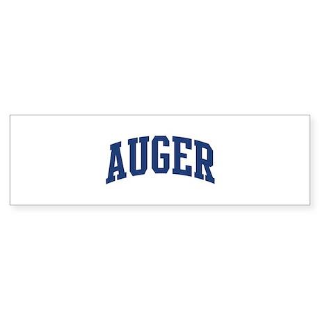 AUGER design (blue) Bumper Sticker