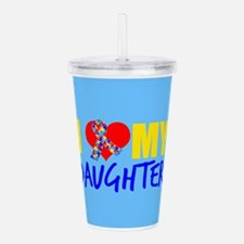 Autism Daughter Acrylic Double-wall Tumbler