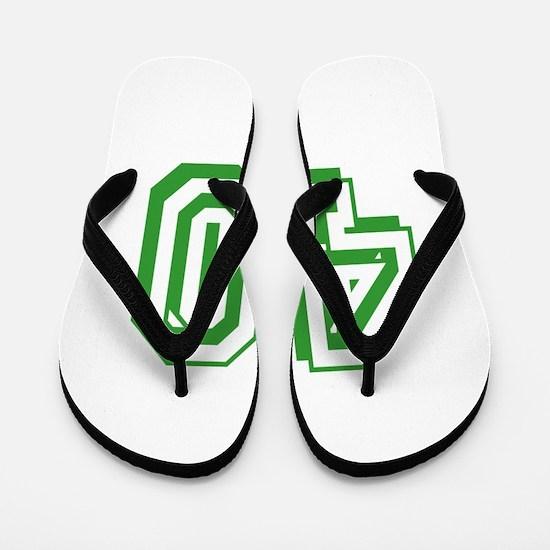 40 Green Birthday Flip Flops