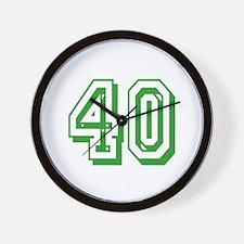 40 Green Birthday Wall Clock
