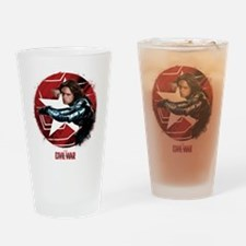 The Winter Soldier Red Stamp - Capt Drinking Glass