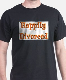 Happily Divorced (bright) T-Shirt