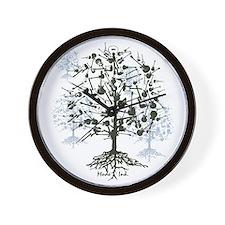 Guitar Tree Roots Wall Clock