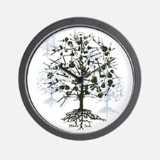 Guitar Tree Roots Wall Clock