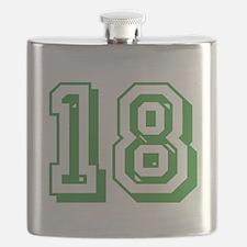 18 Green Birthday Flask