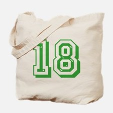 18 Green Birthday Tote Bag