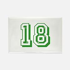 18 Green Birthday Rectangle Magnet