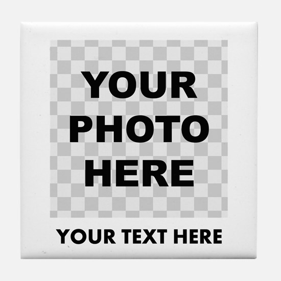 Your Photo And Text Tile Coaster